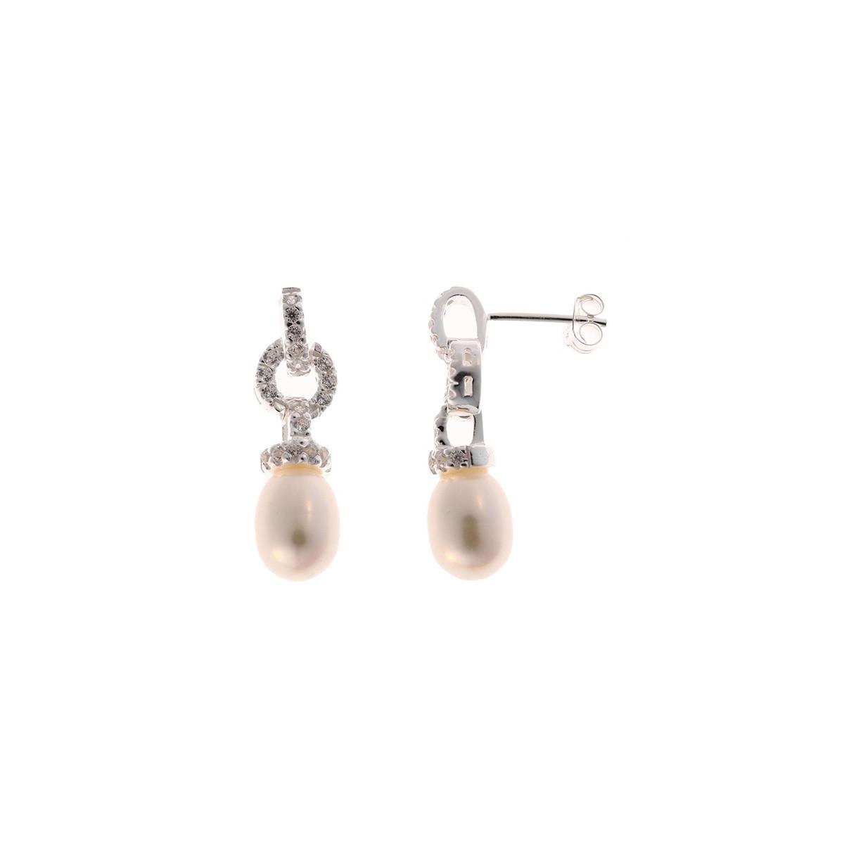 merveilleuse boucle d 39 oreilles argent 925 et perle de. Black Bedroom Furniture Sets. Home Design Ideas