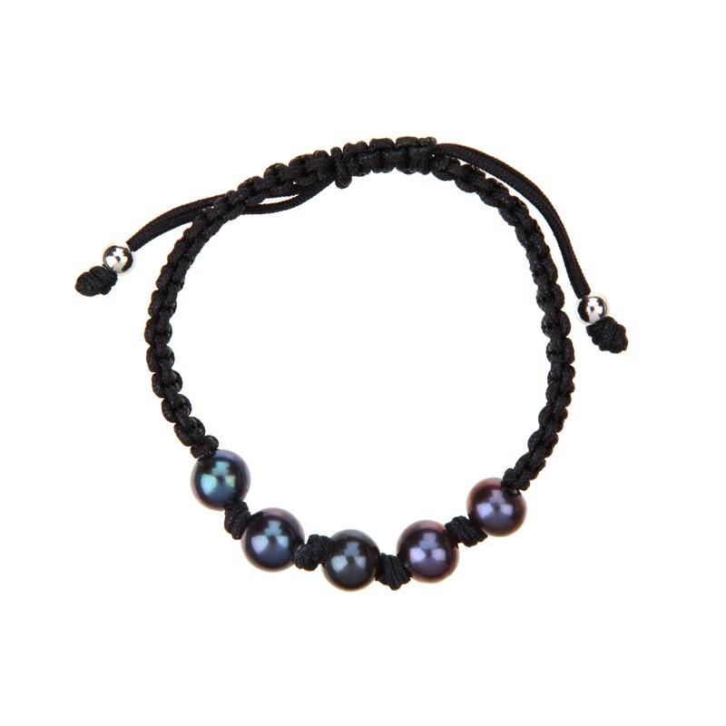 merveilleux bracelet perle de culture grise b45lrpa mes bijoux fr. Black Bedroom Furniture Sets. Home Design Ideas