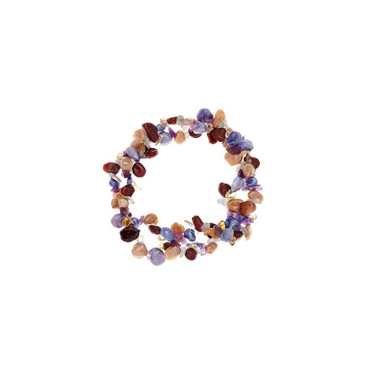 merveilleux bracelet perle de culture multicolore m1m05lrpa mes bijoux fr. Black Bedroom Furniture Sets. Home Design Ideas