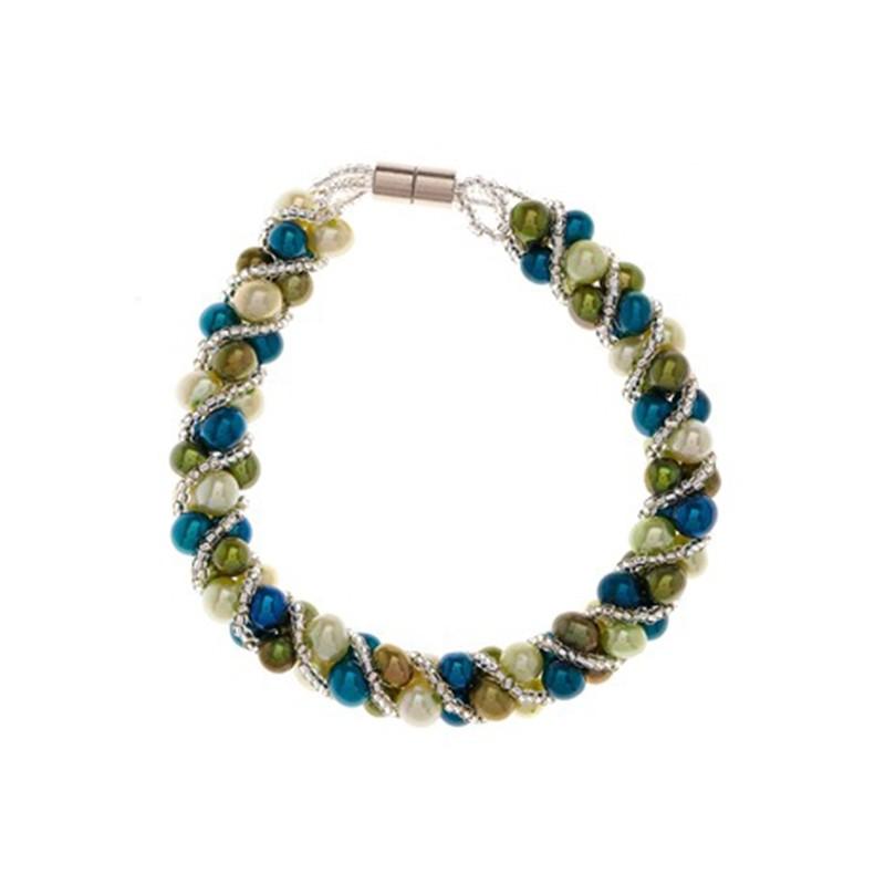 bracelet argent 925 et perle de culture vert v64lrpa. Black Bedroom Furniture Sets. Home Design Ideas