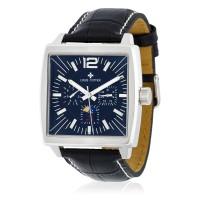 Montre Louis Cottier Panam Noir Bracelet Cuir - HB3030C1BC1