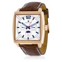 Montre Louis Cottier Panam Blanc Bracelet Cuir - HB3033C2BC2
