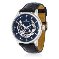 Montre Louis Cottier Villevy Noir Bracelet Cuir - HB3820C1BC1