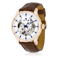 Montre Louis Cottier Villevy Blanc Bracelet Cuir - HB3823C2BC2