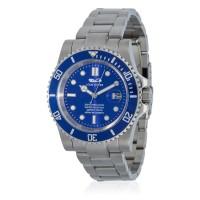 Montre Louis Cottier Aqua Diving Bleu Bracelet Métal - HB3840C4BM1