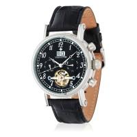 Montre Louis Cottier Bomer Noir Bracelet Cuir - HF3700C1BC1
