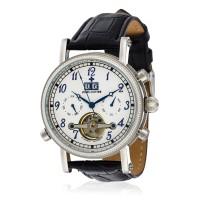 Montre Louis Cottier Bomer Blanc Bracelet Cuir - HF3700C2BC1