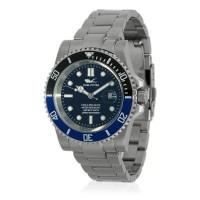Montre Louis Cottier Aqua Diving Noir Bracelet Métal - HB3840bC1BM1