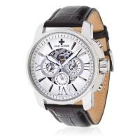 Montre Louis Cottier Open Blanc Bracelet Cuir - HA3230C3BC2
