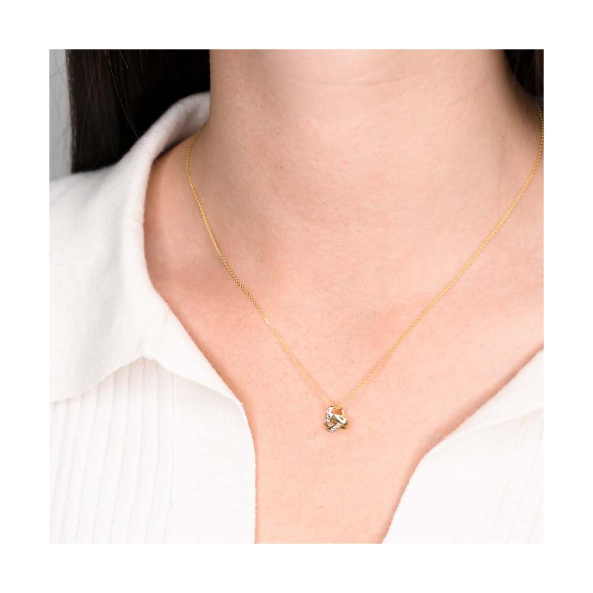 Pendentif Noeud Elegance Or et Diamants