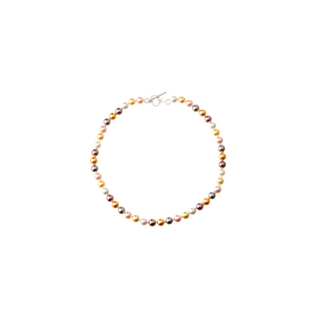 """Bracelet argent et perles de culture multicolores """"BDM Color"""""""