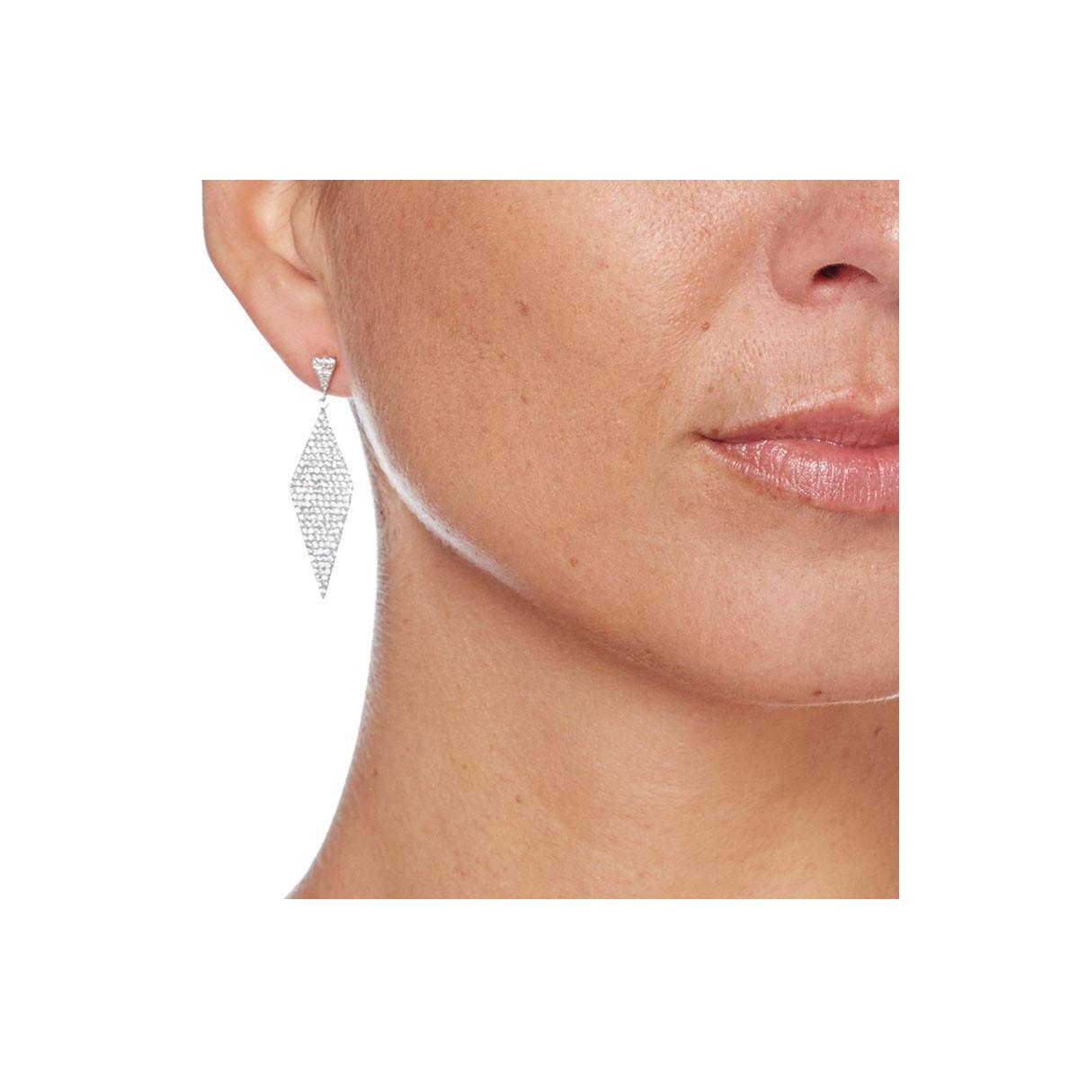 """Boucles d'oreilles argent et oxydes de zirconium """"Losanges en Fête"""""""