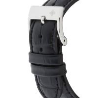 Louis Cottier - Montre Skeleton Automatique Cadran Blanc - Boîtier Acier 42 mm - Bracelet Cuir Noir - Homme