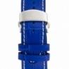 Montre Louis Cottier TRADITION Automatique 42 mm Bleu boitier argenté - bracelet bleu - HS3370C4BC3