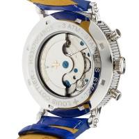 Louis Cottier - Montre Tradition Automatique Cadran Bleu - Boîtier Acier 42 mm - Bracelet Cuir Bleu - Homme