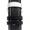 Louis Cottier - Montre Tradition Automatique Cadran Gris - Boîtier Acier 42 mm - Bracelet Cuir Noir - Homme