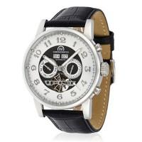 """Montre Chronowatch """"Camara"""" Automatique Blanc Bracelet Cuir - HA5310C2gBCt"""