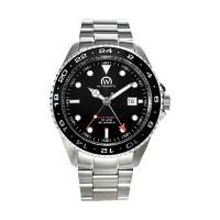 Montre Chronowatch Dive Master Gmt Noir Bracelet Métal - HB5100C1BM1
