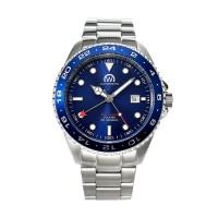 Montre Chronowatch Dive Master Gmt Bleu Bracelet Métal - HB5100C4BM1