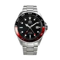 Montre Chronowatch Dive Master Gmt Noir Bracelet Métal - HB5100rC1BM1