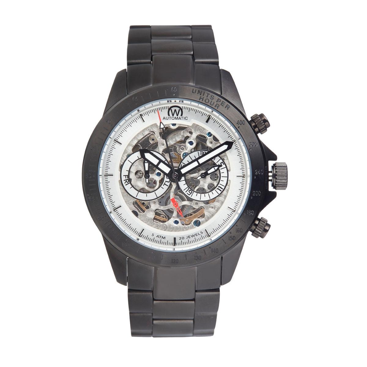 """Montre Chronowatch """"Weapon"""" Automatique Blanc Bracelet Métal - HB5151C2BM2"""