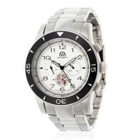 Montre Chronowatch Navymatic Blanc Bracelet Métal - HB5170nC2BM1