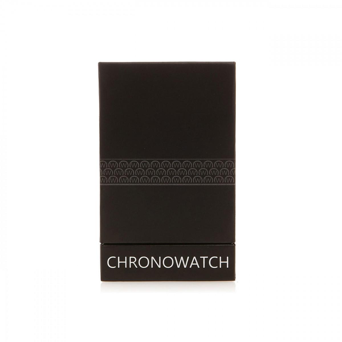 Montre Chronowatch Baretta Noir Bracelet Cuir - HF5270C1BC1