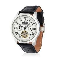 """Montre Chronowatch """"L'Astus"""" Automatique  Blanc Bracelet Cuir - HF5330C3BC1"""