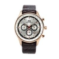 Montre Chronowatch Chrono-Academy Argenté Bracelet Cuir - HJ5193C2BC2