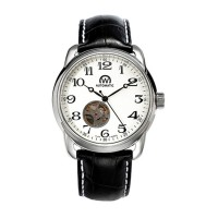 Montre Chronowatch History Blanc Bracelet Cuir - HY5240C3BC1