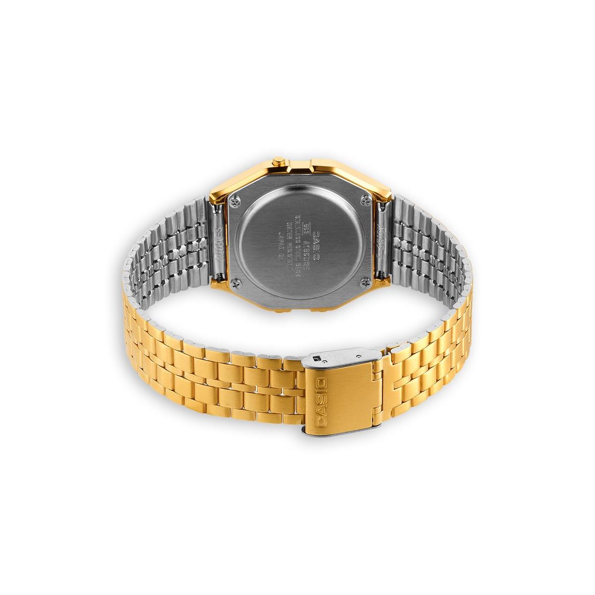 Montre Unisexe Casio Vintage Bracelet Acier inoxydable Doré - A159WGEA-1EF