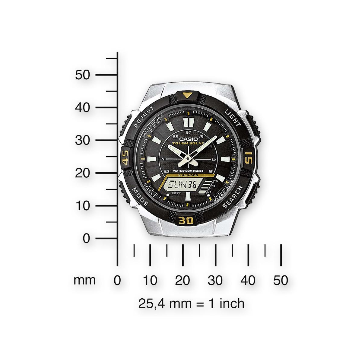 Montre Homme Casio  Bracelet Acier inoxydable Argenté - AQ-S800WD-1EVEF