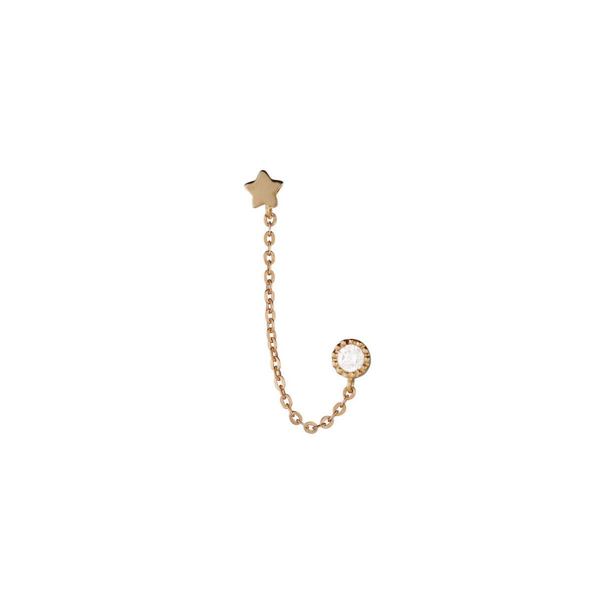 Boucles d'oreilles femme royal Or Jaune 375 et zirconium