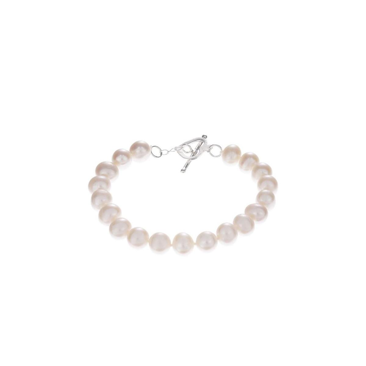 """Bracelet argent et perles de culture blanches """"BDM Neige"""""""