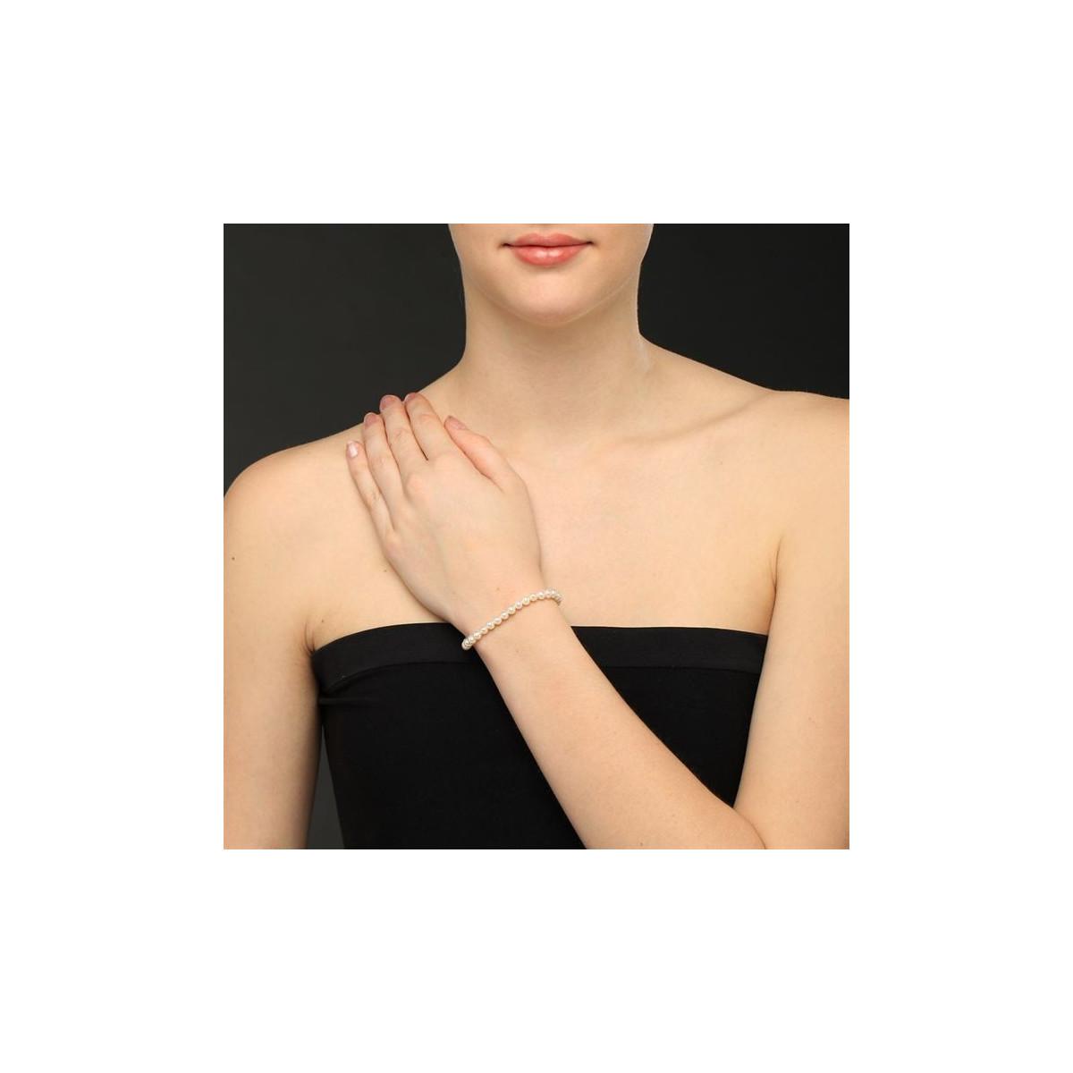 """Bracelet perles de culture blanches """"Diva"""""""