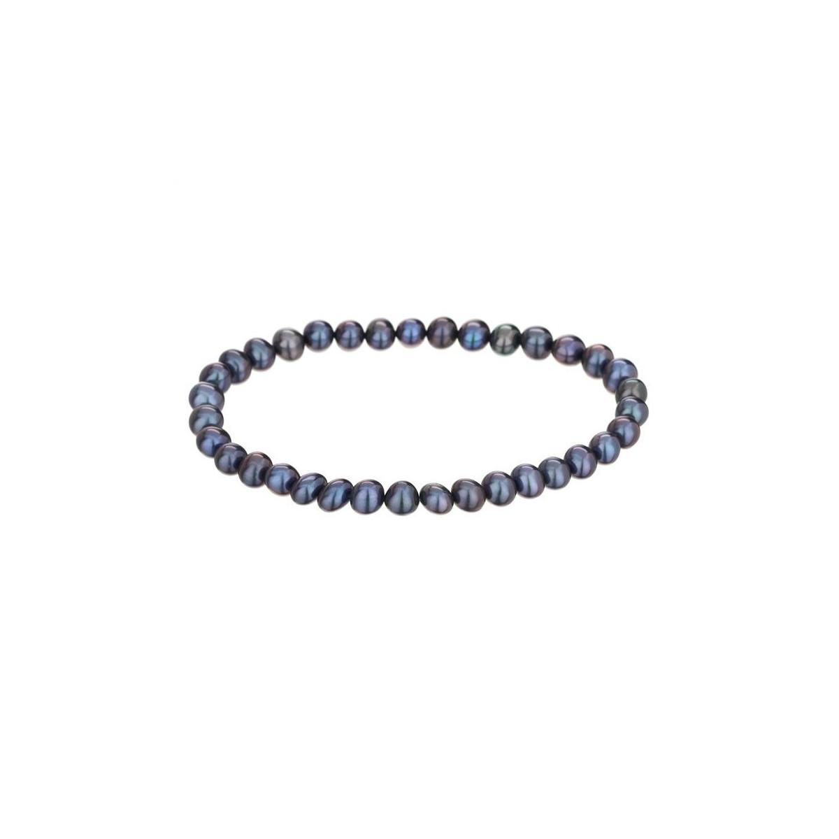 """Bracelet perles de culture noires """"Diva"""""""