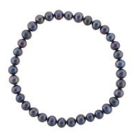 Bracelet Elastique Diva En Perles De Culture Noire Mes Bijoux Fr