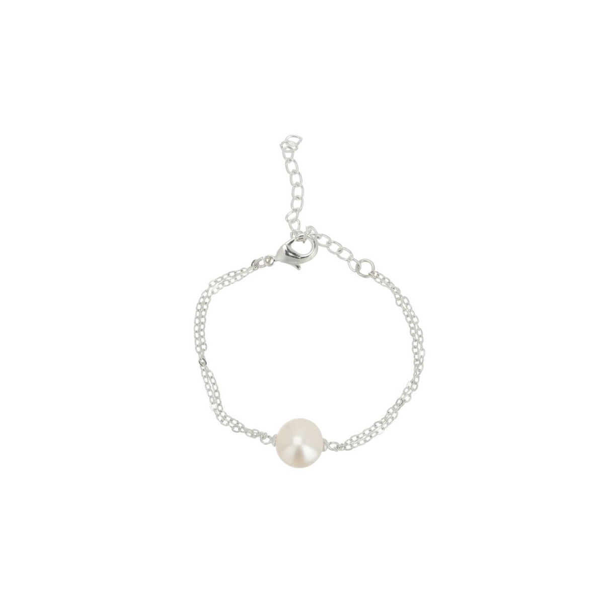 Bracelet en équilibre en perles de culture blanche et argent 925