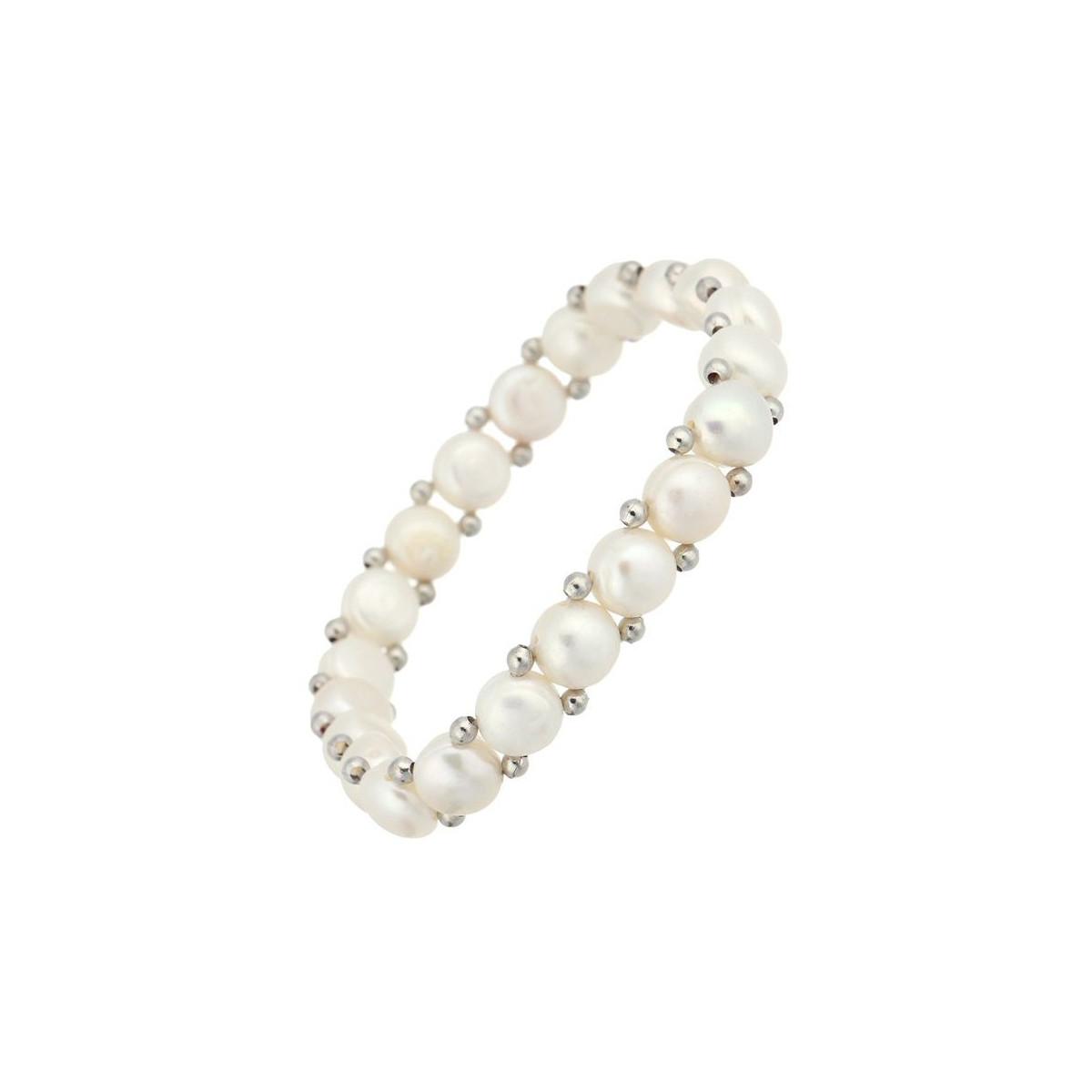 """Bracelet argent et perles de culture blanches """"Simplicité"""""""