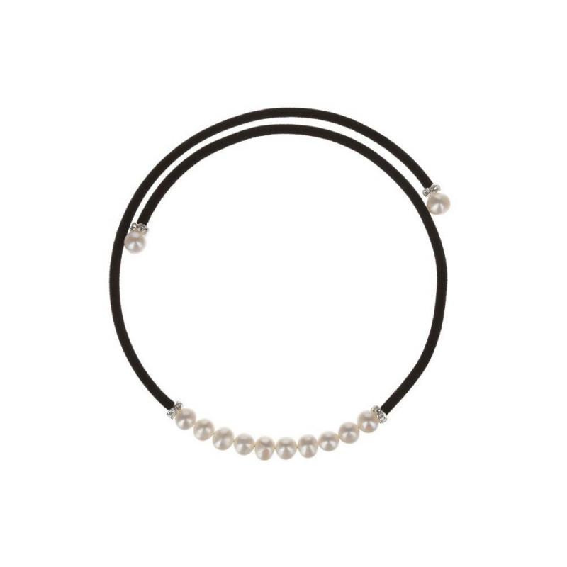 Collier  magique  en perles de culture blanche et argent 925