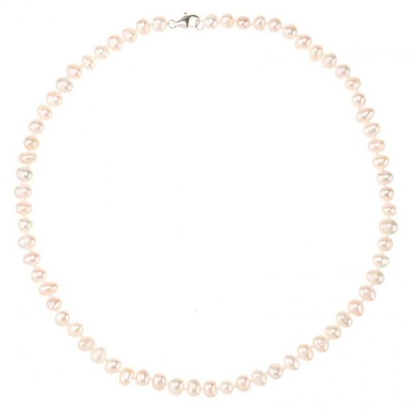 collier comtesse en perles de culture blanche et argent. Black Bedroom Furniture Sets. Home Design Ideas