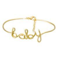 """Bracelet à message laiton doré """"BABY"""""""