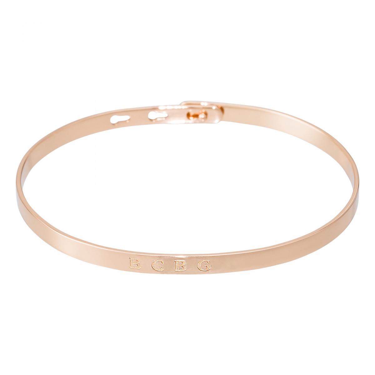 """""""BCBG"""" bracelet jonc rosé à message"""