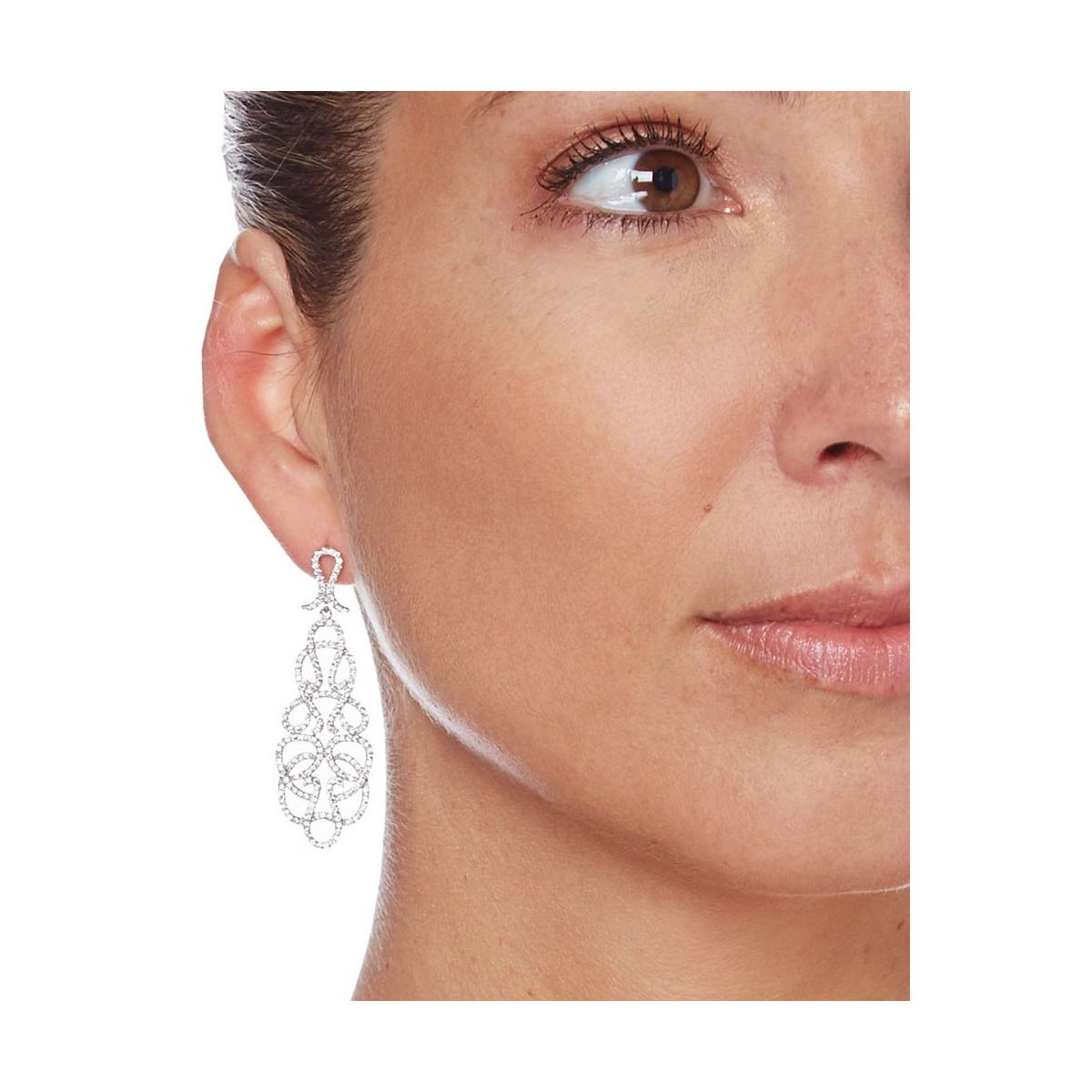 """Boucles d'oreilles argent et oxydes de zirconium """"Arabesque Fever"""""""