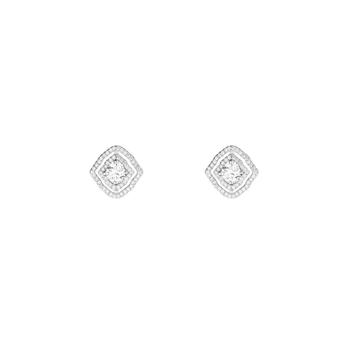 Boucles d'oreilles coussins brillantini en argent 925