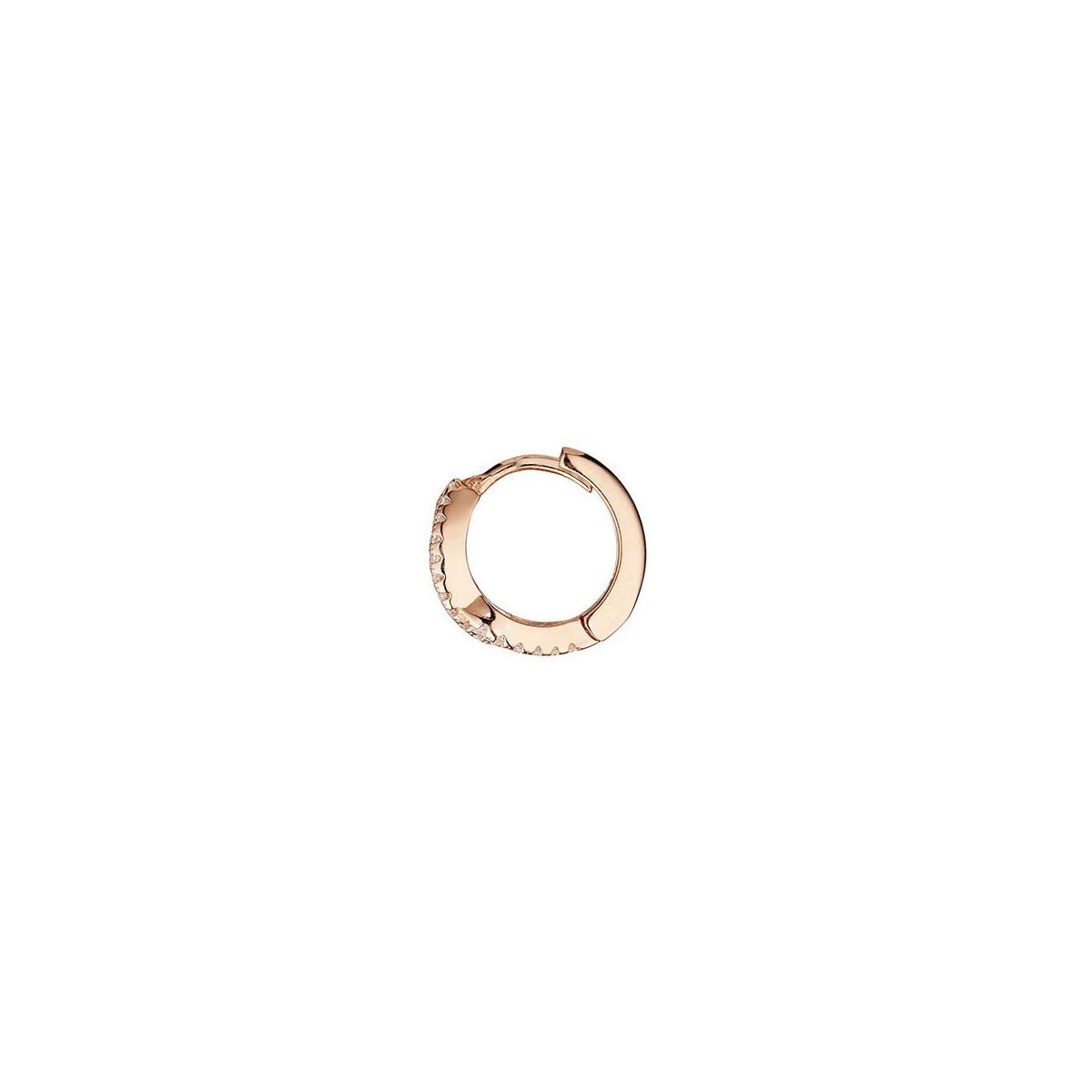 """Boucles d'oreilles vermeil rose et oxydes de zirconium """"Créole Douce Vague"""""""