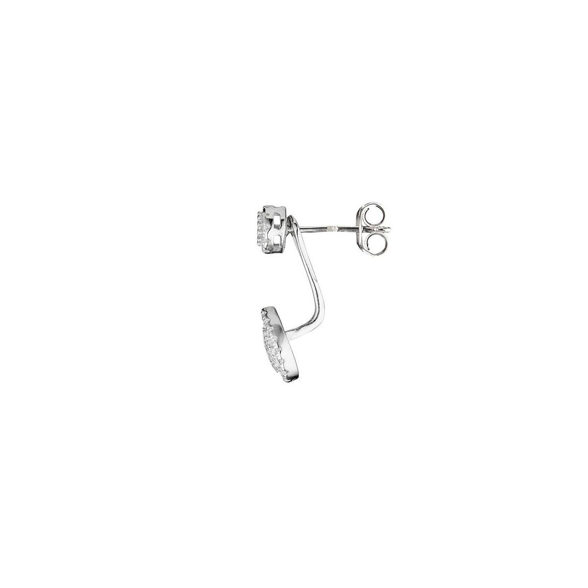 """Boucles d'oreilles argent et oxydes de zirconium """"Goutte Olympia"""""""