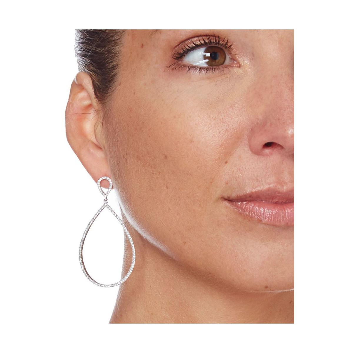 """Boucles d'oreilles argent et oxydes de zirconium """"Larmes Majestueuses"""""""