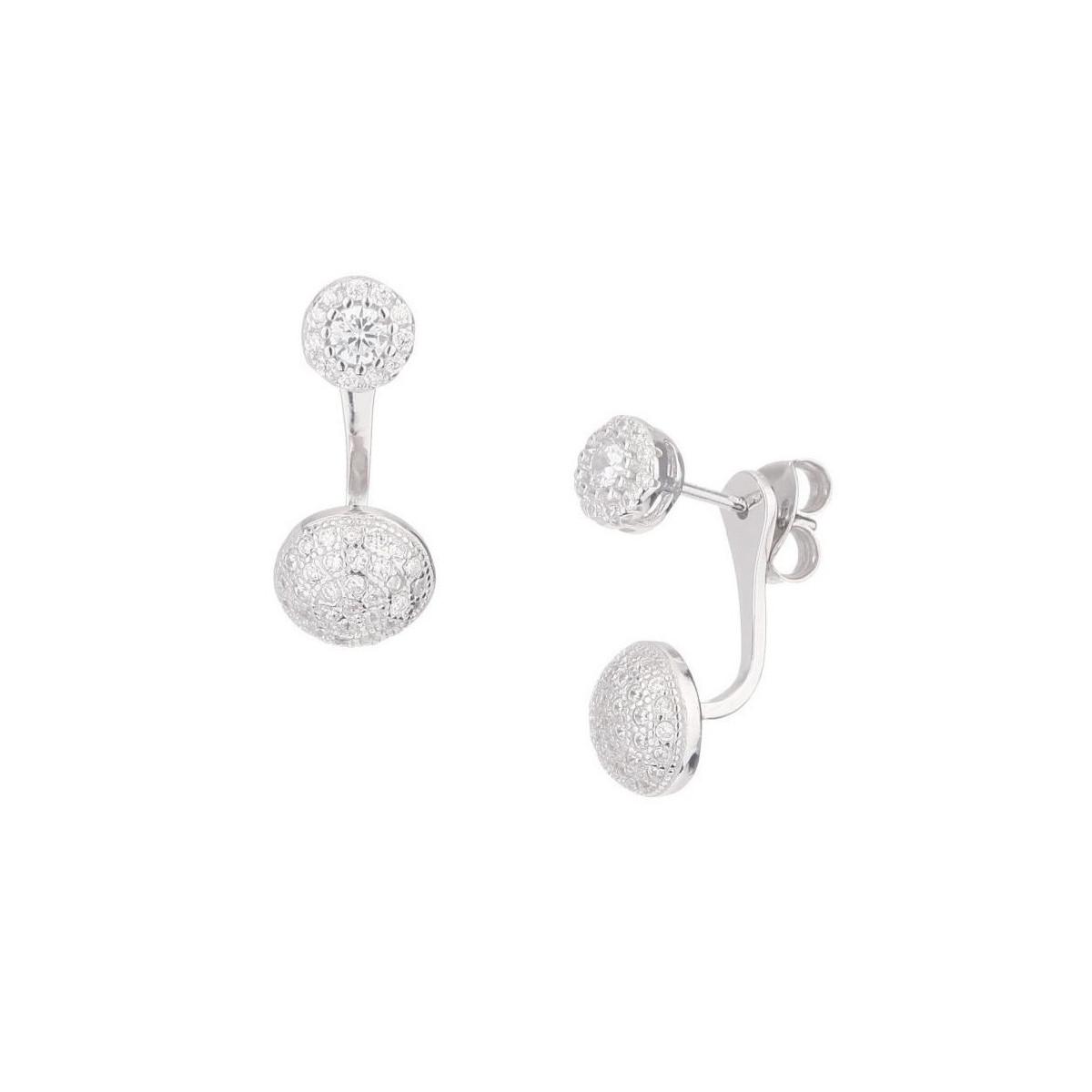 """Boucles d'oreilles argent et oxydes de zirconium """"Pendantes classiques"""""""