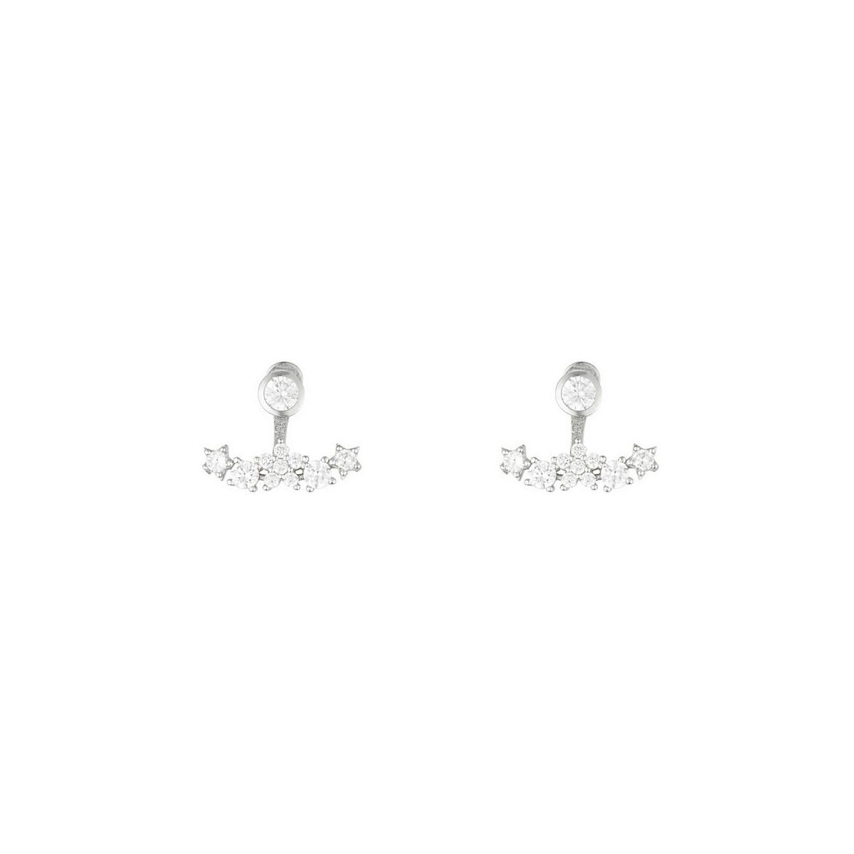 """Boucles d'oreilles argent et oxydes de zirconium """"Poussière d'Etoiles"""""""